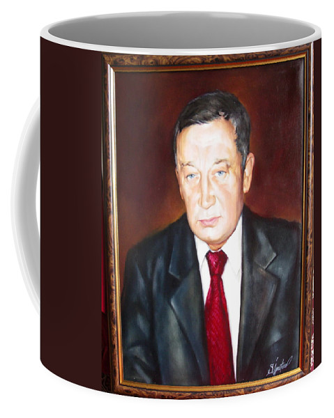 Art Coffee Mug featuring the painting Man 1 by Sergey Ignatenko