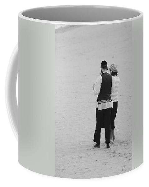 Black And White Coffee Mug featuring the photograph Man And Woman by Rob Hans