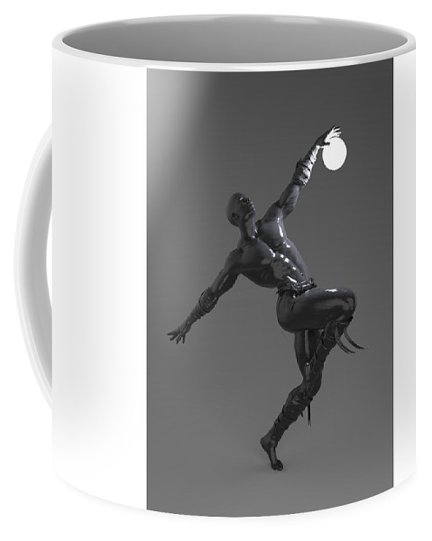 Sculpture Coffee Mug featuring the digital art Man Lamp Number Four by Joaquin Abella