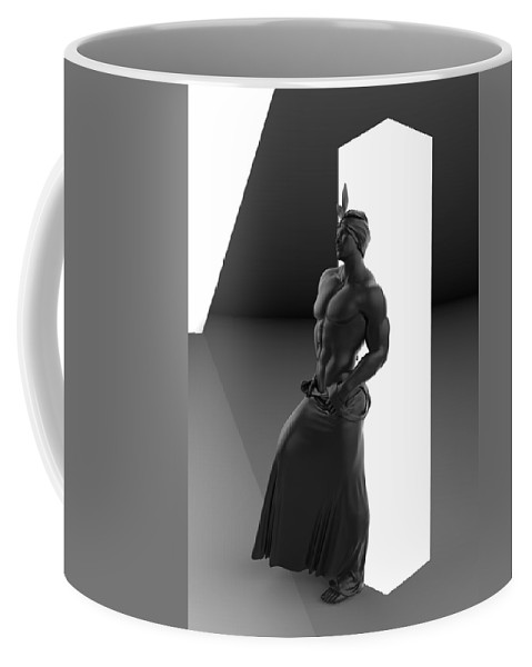 Sculpture Coffee Mug featuring the digital art Man Lamp Number Ten by Joaquin Abella