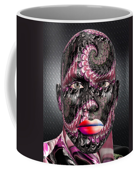 Portrait Coffee Mug featuring the photograph Studio Man Render 21 by Carlos Diaz