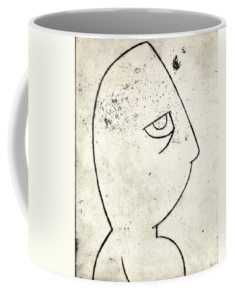 Clay Coffee Mug featuring the painting man by Thomas Valentine