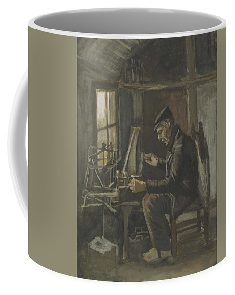 Man Coffee Mug featuring the painting Man Winding Yarn Nuenen, May - June 1884 Vincent Van Gogh 1853 1890 by Artistic Panda