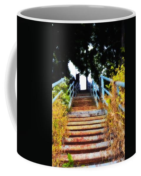 Manayunk Coffee Mug featuring the photograph Manayunk Steps by Bill Cannon