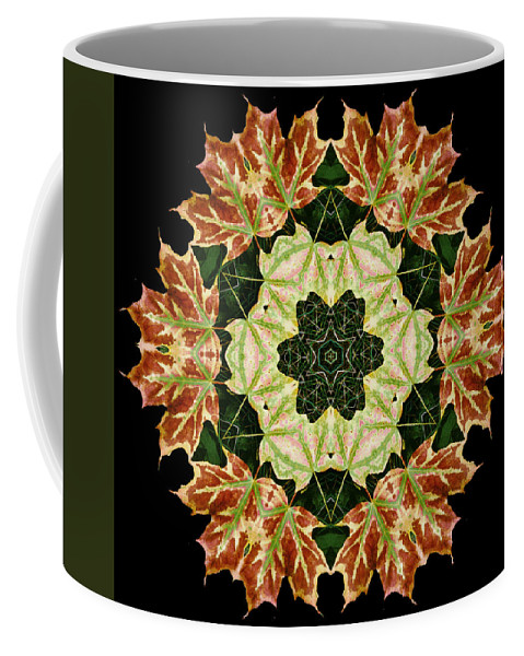 Autumn Coffee Mug featuring the photograph Mandala Autumn Star by Nancy Griswold