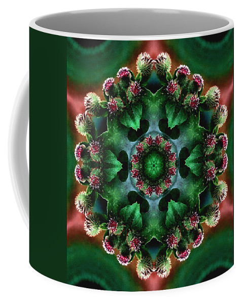 Plants Coffee Mug featuring the photograph Mandala Bull Thistle by Nancy Griswold