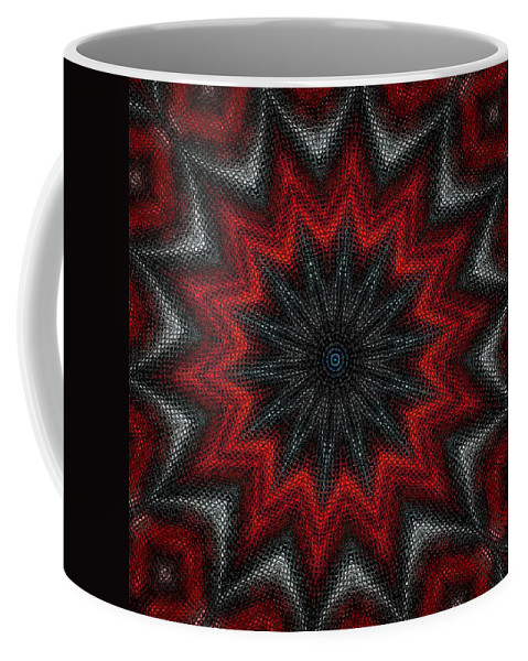 Digital Painting Coffee Mug featuring the digital art Mandala by David Lane