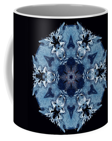 Ice Coffee Mug featuring the photograph Mandala Ice by Nancy Griswold