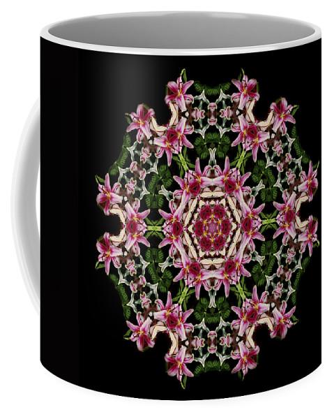Mandala Coffee Mug featuring the photograph Mandala Monadala Lisa by Nancy Griswold