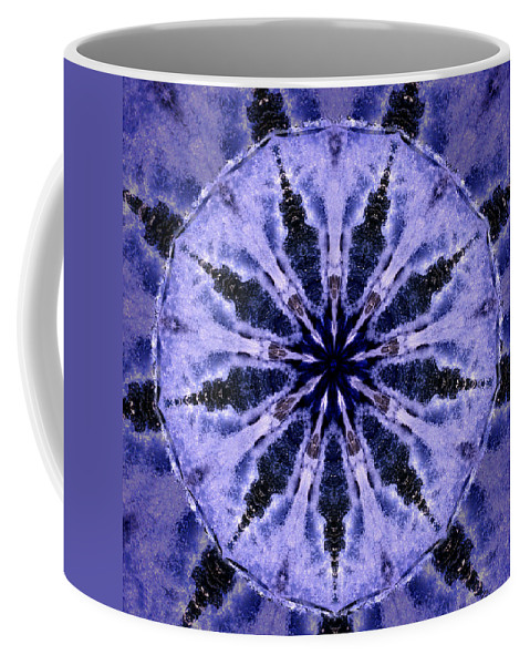 Mandala Coffee Mug featuring the digital art Mandala Ocean Wave by Nancy Griswold