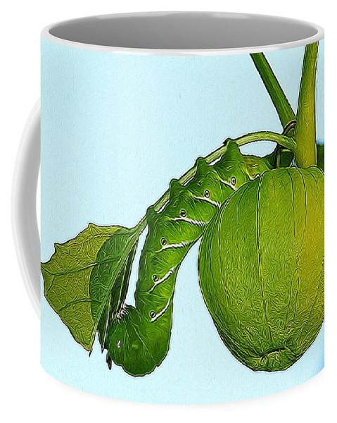 Judy Bernier Coffee Mug featuring the photograph Manduca Sexta by Modern Art