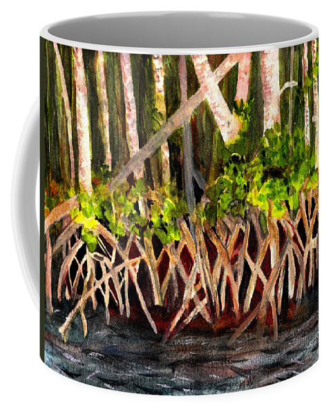 Mangrove Coffee Mug featuring the painting Mangrove At Gumbo Limbo by Donna Walsh