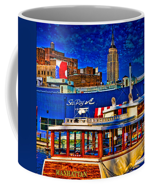 Hdr Coffee Mug featuring the photograph Manhattan by Chris Lord