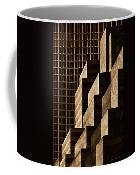 New York Coffee Mug featuring the digital art Manhattan No. 3 by Joe Bonita