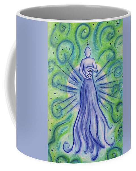 Ascension Coffee Mug featuring the mixed media Manifestation by Wendy Murphy