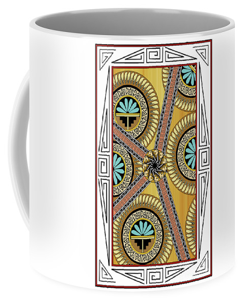 Southwest Coffee Mug featuring the digital art Many Circles by Tim Hightower