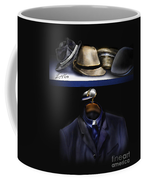 Still Life Painting Coffee Mug featuring the painting Many Hats One Collar by Reggie Duffie