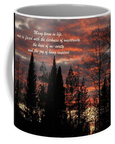 Sunset Coffee Mug featuring the photograph Many Times In Life One Is Faced... by DeeLon Merritt