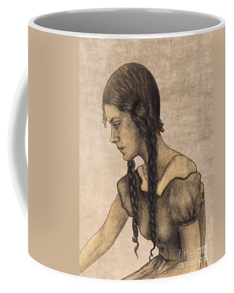 Issabild Coffee Mug featuring the digital art Many Years Ago by Issabild -