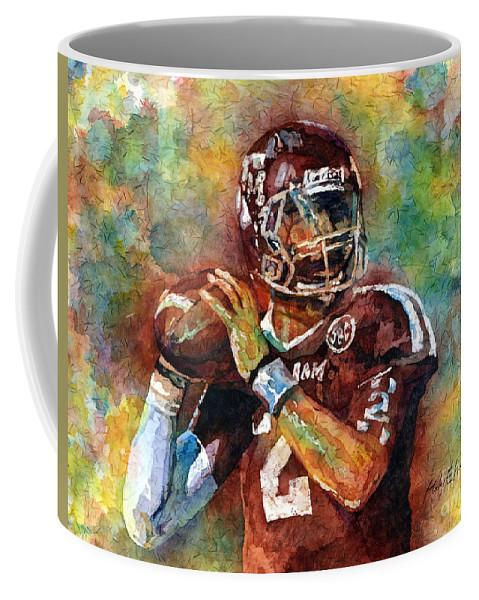 Manziel Coffee Mug featuring the painting Manziel by Hailey E Herrera