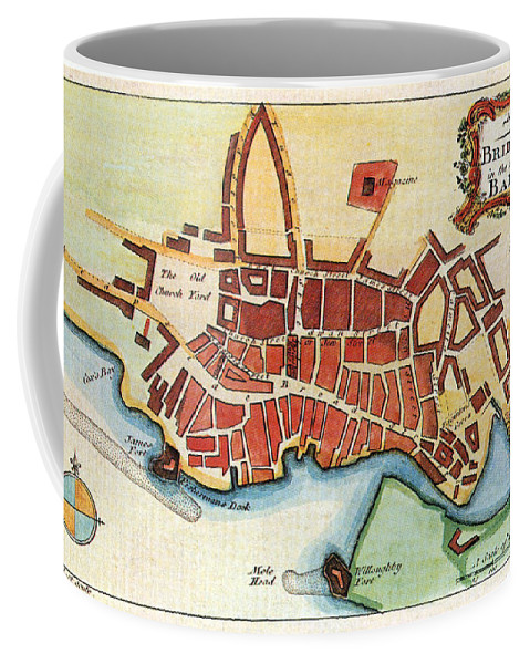 1770 Coffee Mug featuring the photograph Map: Barbados, C1770 by Granger