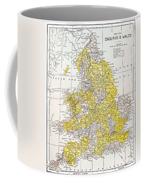 19th Century Coffee Mug featuring the photograph Map: England & Wales by Granger