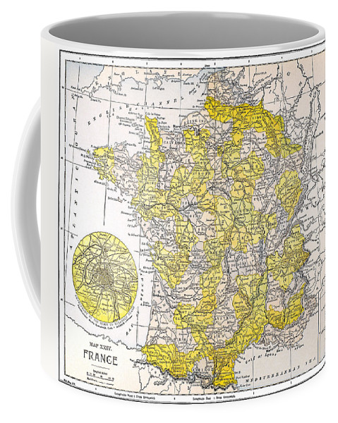 19th Century Coffee Mug featuring the photograph Map: France by Granger
