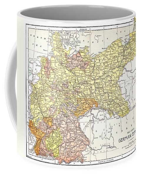 19th Century Coffee Mug featuring the photograph Map: German Empire by Granger