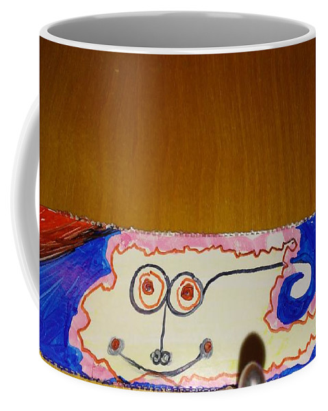 Map Man Coffee Mug featuring the painting Map Man by Urgue