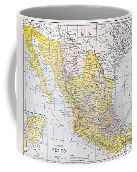 1900 Coffee Mug featuring the photograph Map: Mexico by Granger
