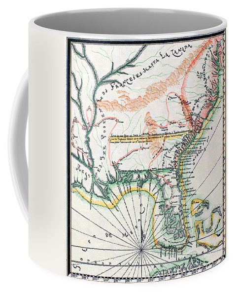 1742 Coffee Mug featuring the photograph Map: North America, 1742 by Granger