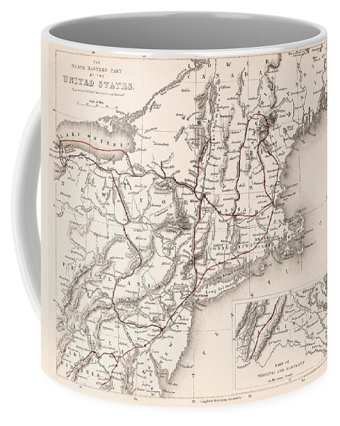19th Century Coffee Mug featuring the photograph Map: Northeast U.s.a by Granger