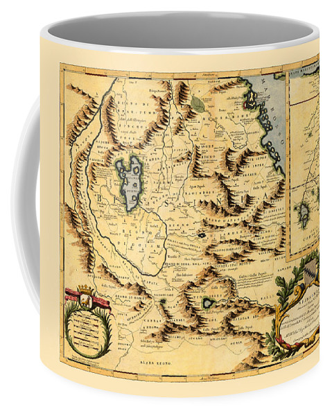Map Of Africa Coffee Mug featuring the photograph Map Of Africa 1690 by Andrew Fare