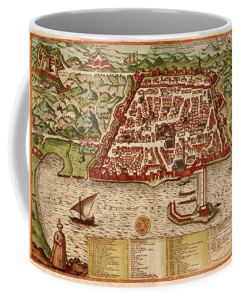 Map Of Algiers Coffee Mug featuring the photograph Map Of Algiers 1541 by Andrew Fare