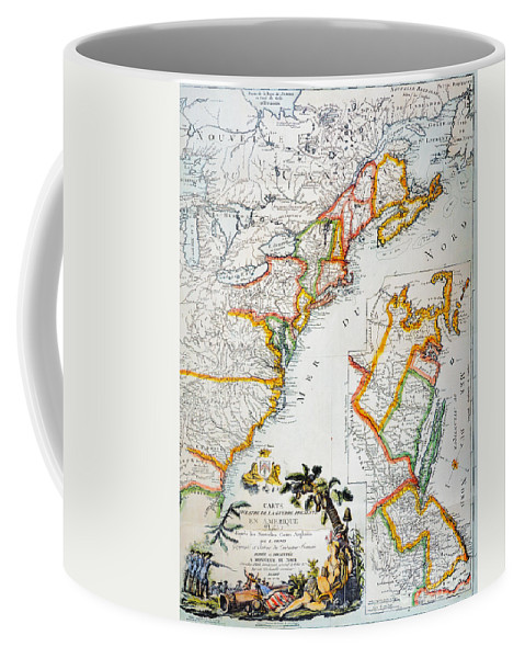 1779 Coffee Mug featuring the photograph Map Of America, 1779 by Granger