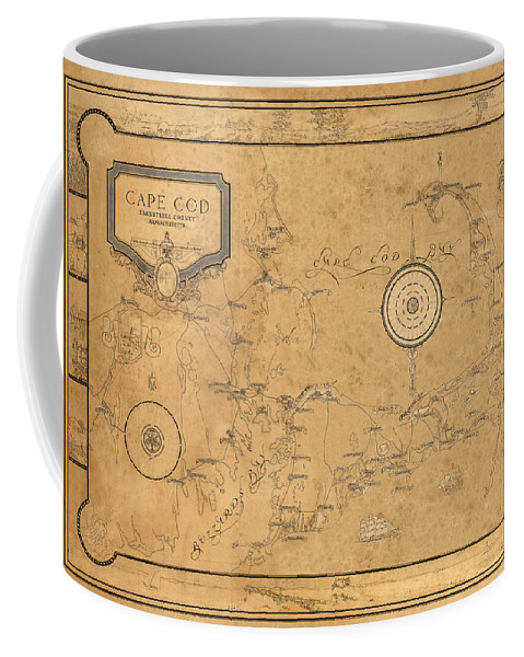 Map Of Cape Cod Coffee Mug featuring the photograph Map Of Cape Cod 1931 by Andrew Fare