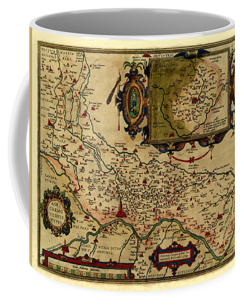 Map Of Cremona Coffee Mug featuring the photograph Map Of Cremona 1579 by Andrew Fare
