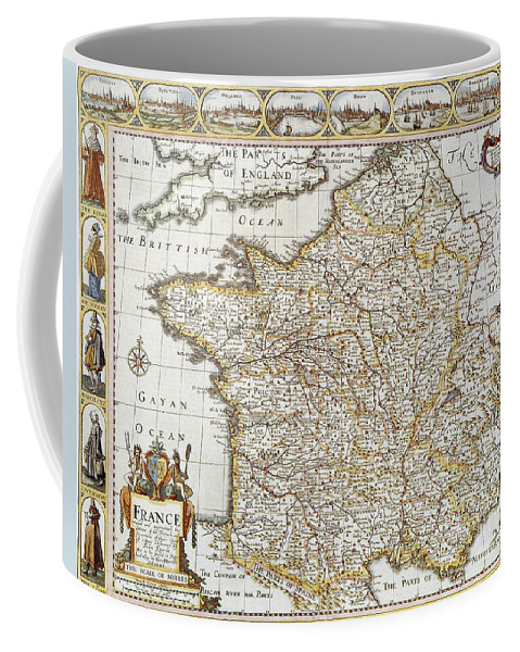 1627 Coffee Mug featuring the photograph Map Of France, 1627 by Granger