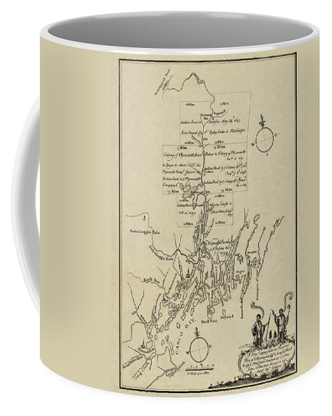 Map Of Plymouth Coffee Mug featuring the photograph Map Of Plymouth by Andrew Fare