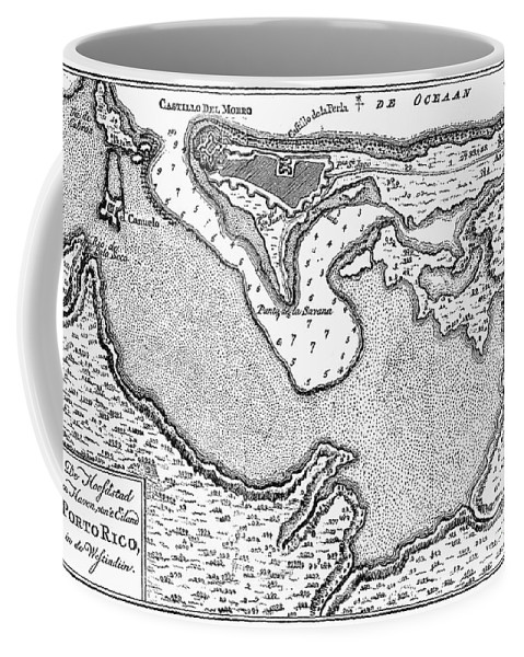 1766 Coffee Mug featuring the photograph Map Of San Juan, 1766 by Granger