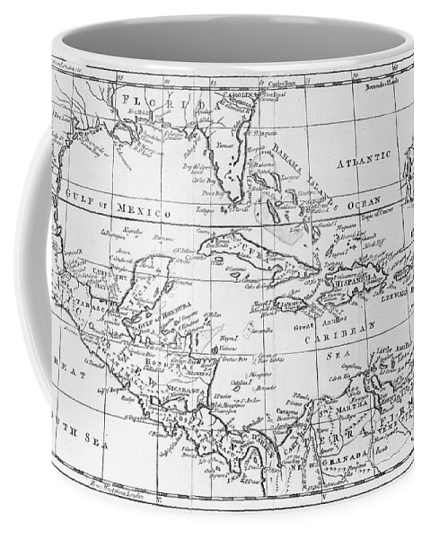 Map Coffee Mug featuring the painting Map Of The West Indies Florida And South America by English School