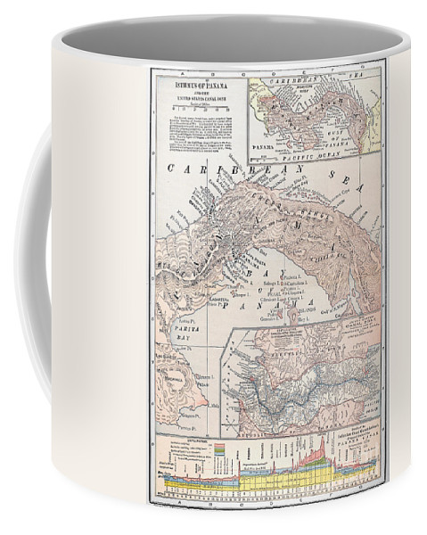 1907 Coffee Mug featuring the photograph Map: Panama, 1907 by Granger