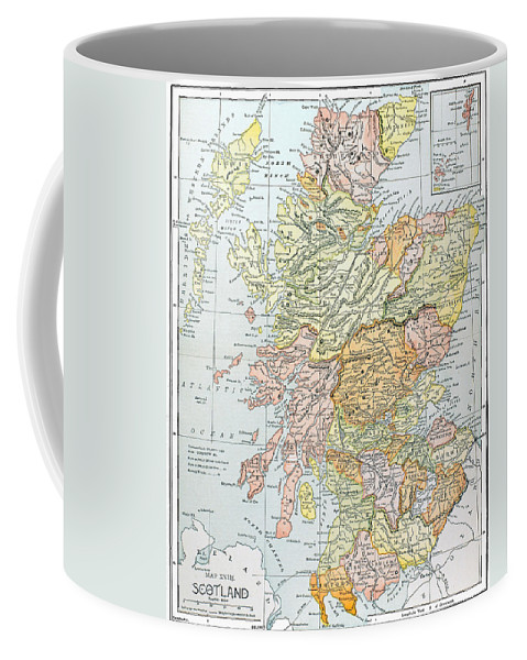 19th Century Coffee Mug featuring the photograph Map: Scotland by Granger