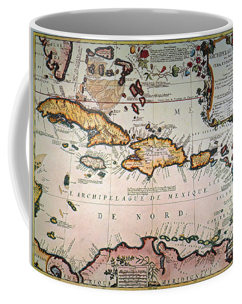 1688 Coffee Mug featuring the photograph Map: West Indies by Granger