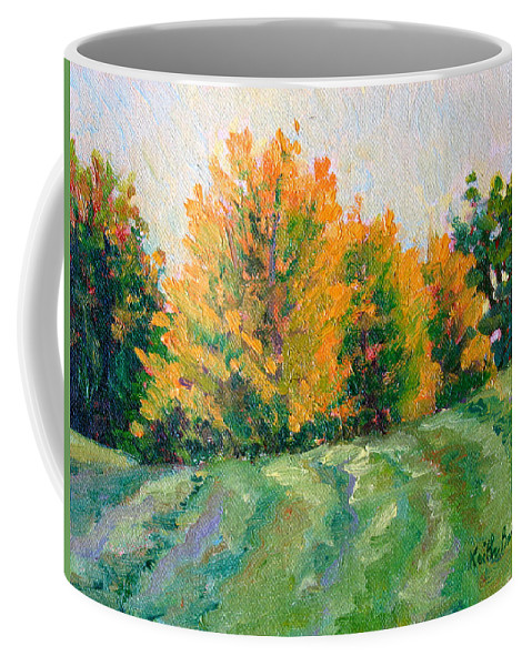 Impressionism Coffee Mug featuring the painting Maple Grove by Keith Burgess