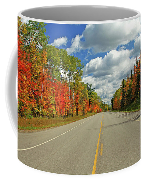 Scenic Highway Coffee Mug featuring the photograph Maple Highway by Bill Morgenstern