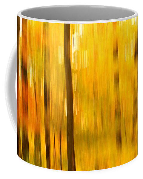 Abstract Photo Coffee Mug featuring the photograph Maple Magic by Bill Morgenstern