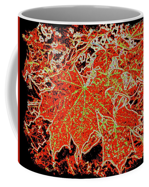 Cheerful Coffee Mug featuring the digital art Maple Mania 11 by Will Borden