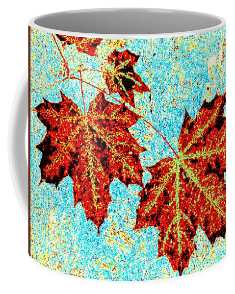 Cheerful Coffee Mug featuring the digital art Maple Mania 13 by Will Borden