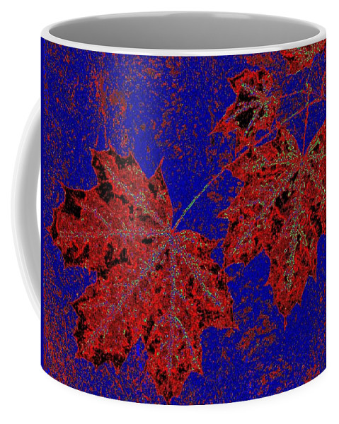 Cheerful Coffee Mug featuring the digital art Maple Mania 15 by Will Borden